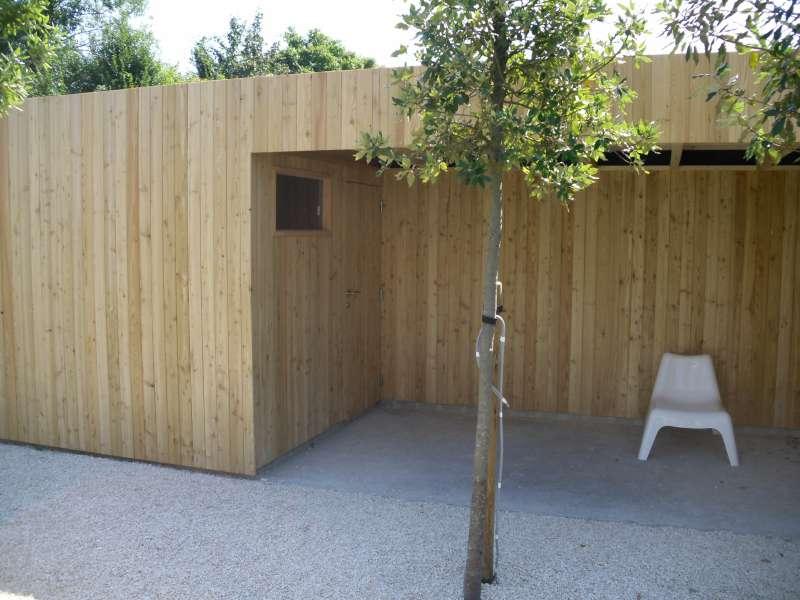 Tuinhuis kubus modern daniel decadt houten constructies houthandel proven - Kubus interieurs ...