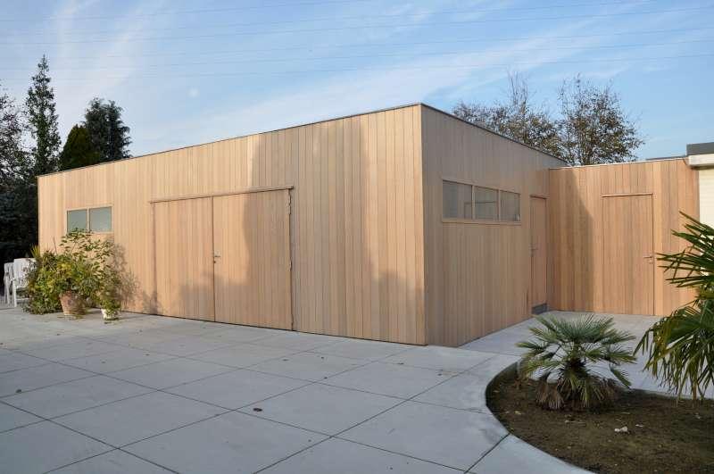 Tuinhuis kubus modern - Daniel Decadt - Houten Constructies ...