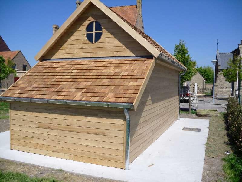 Cottage heritage tuinhuis daniel decadt houten constructies houthandel proven - Interieur chalet houten berg ...