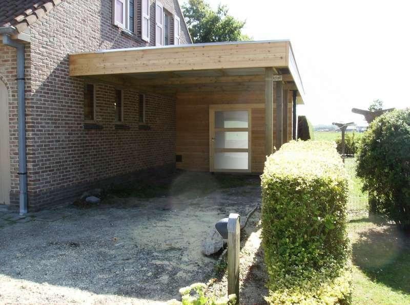 Carport aanbouw hout daniel decadt houten constructies houthandel proven - Carport foto ...
