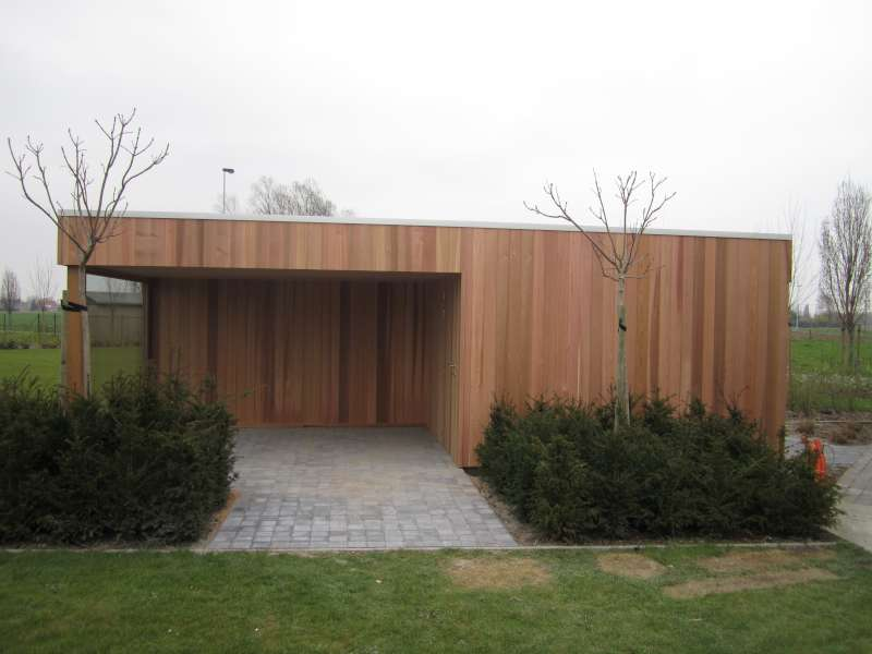 Tuinhuis Kubus Modern Daniel Decadt Houten Constructies